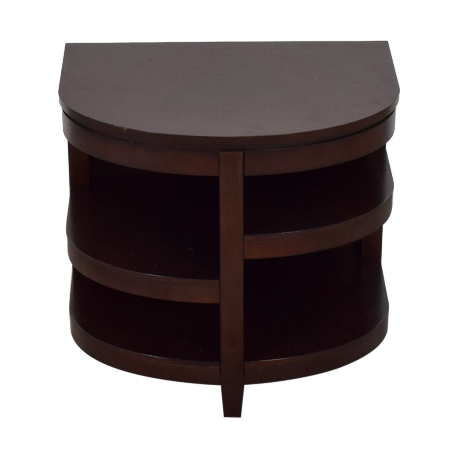 Raymour & Flanigan Raymour & Flanigan Semi Round Shelved End Table dimensions