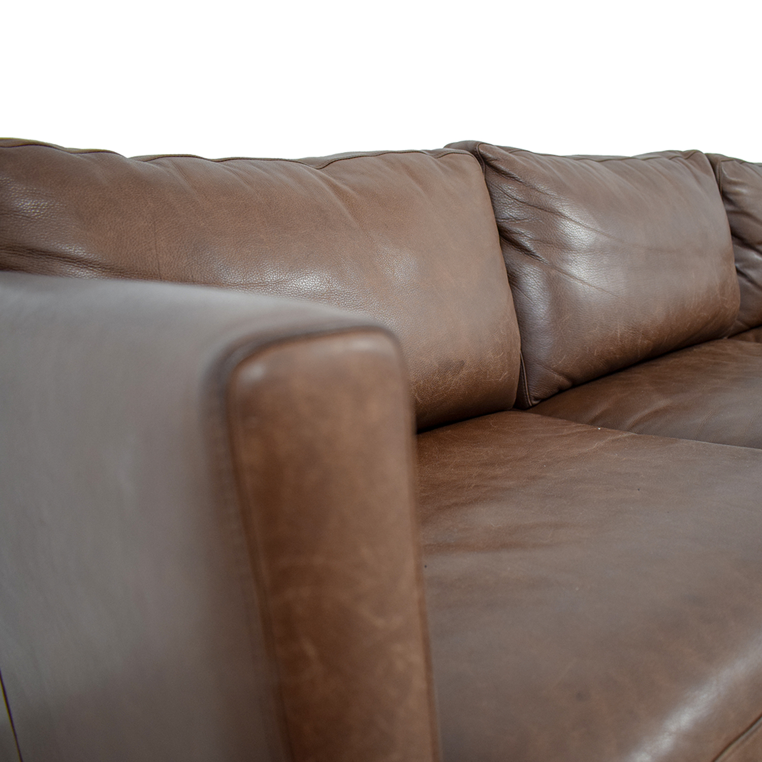 Room & Board Room & Board Jackson Brown Leather Three-Cushion Sofa Sofas