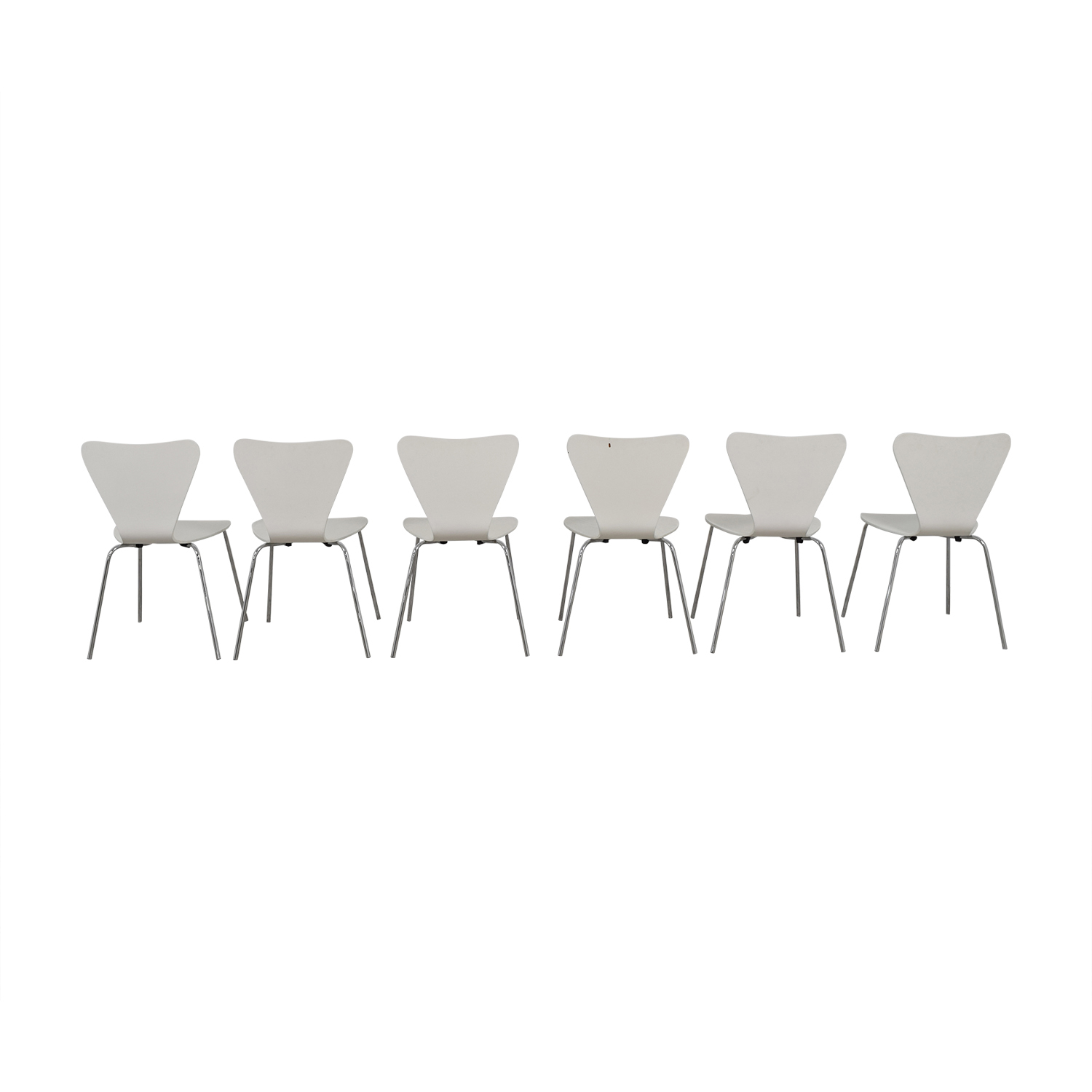 Room & Board Room & Board White and Chrome Chairs White