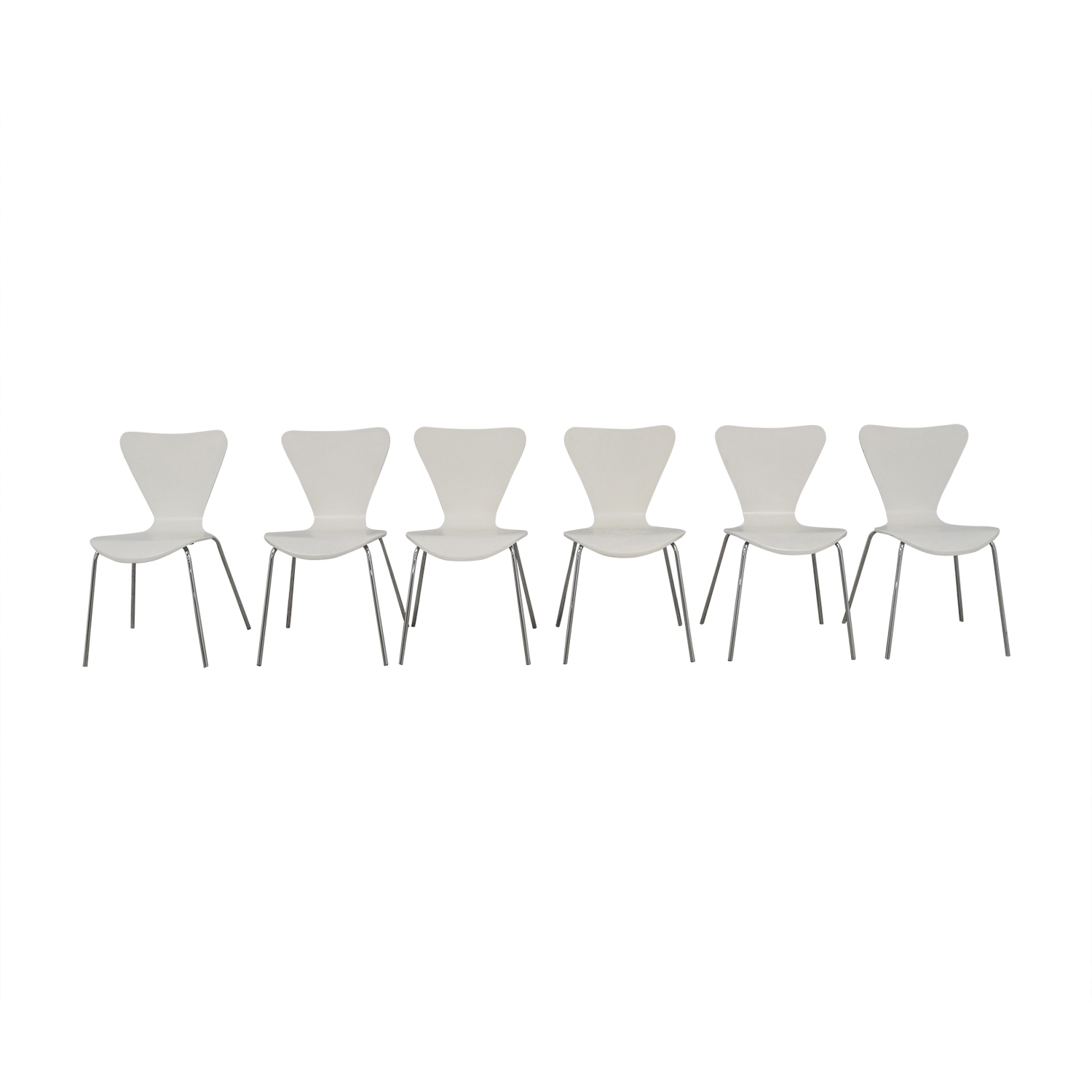 shop Room & Board Room & Board White and Chrome Chairs online