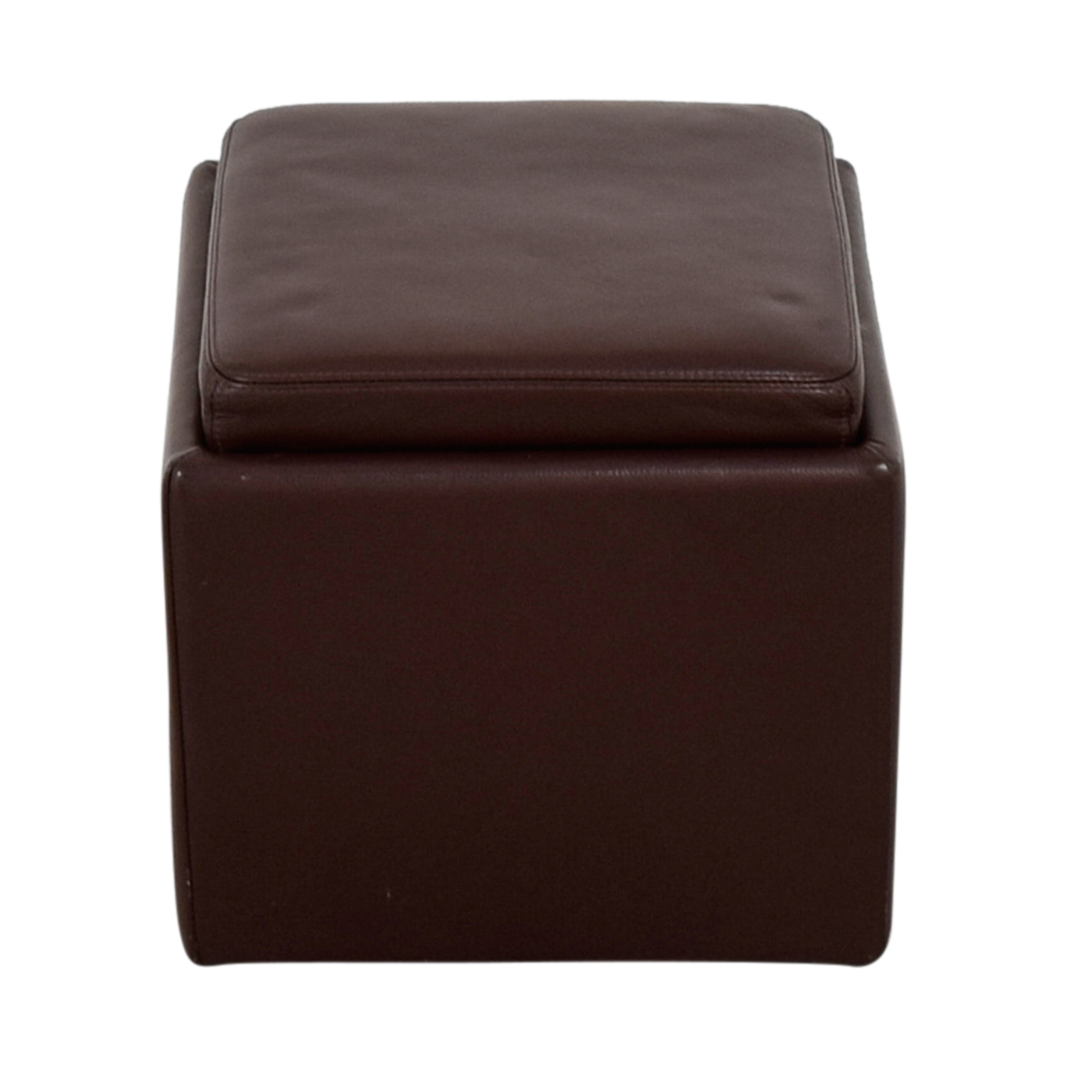 Room & Board Room & Board Brown Leather Ottoman on sale
