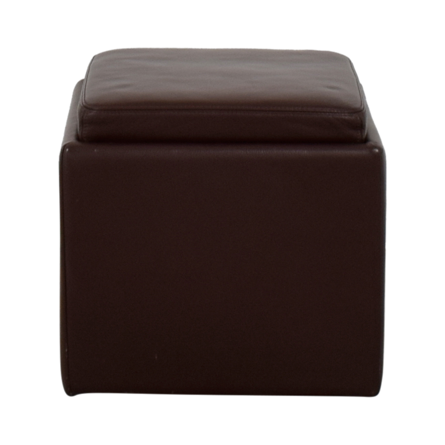 buy Room & Board Brown Leather Ottoman Room & Board Ottomans