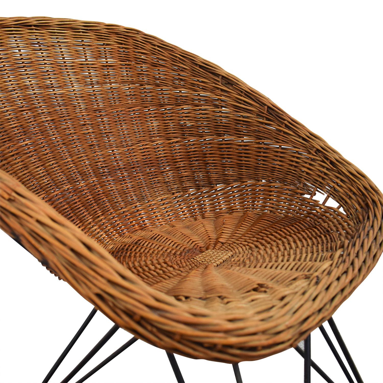 Wicker Chair with Metal Legs nj