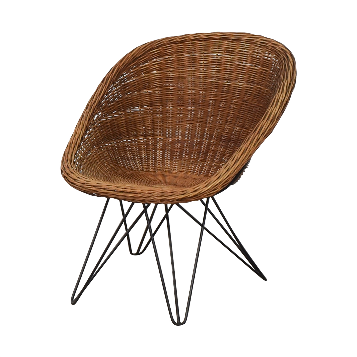 buy Wicker Chair with Metal Legs  Accent Chairs