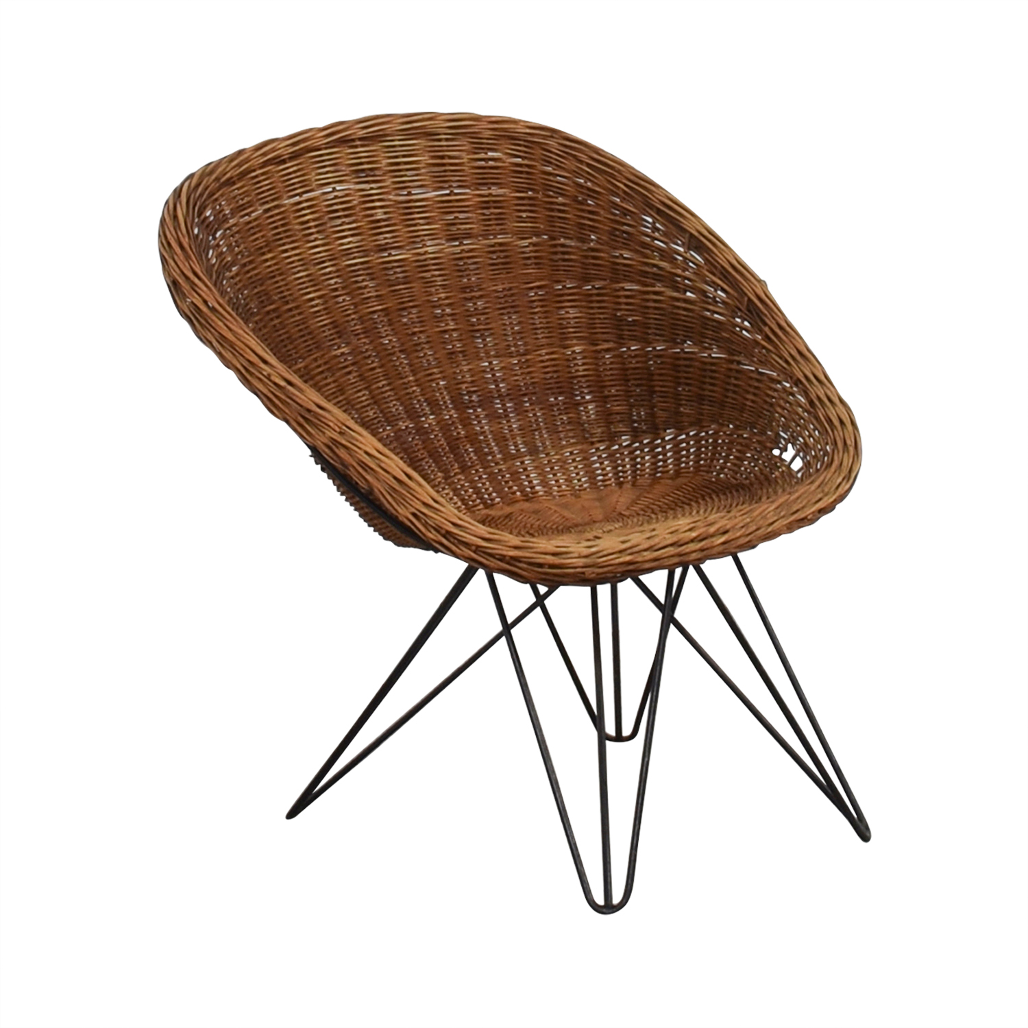 Wicker Chair with Metal Legs on sale