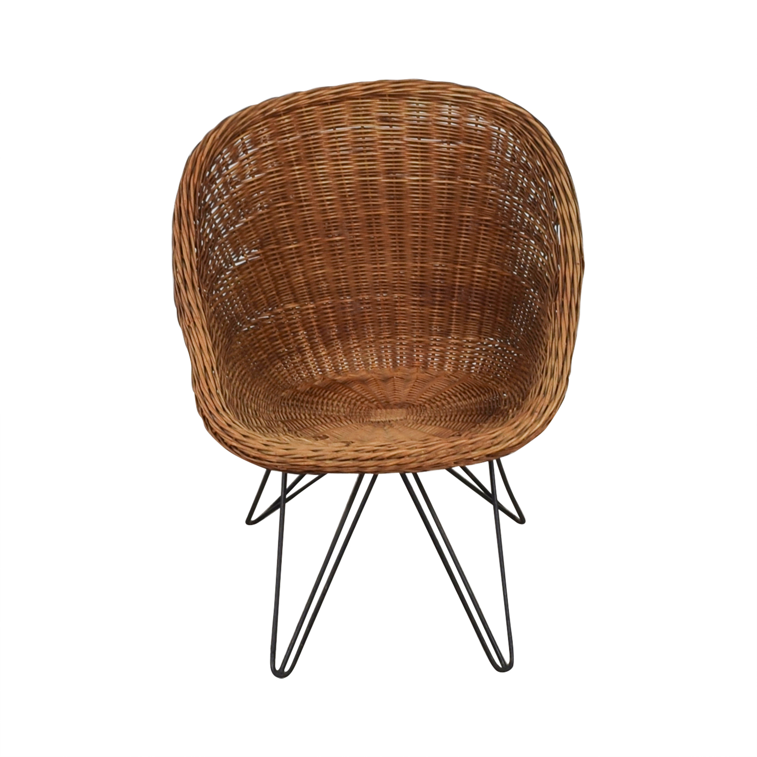 Wicker Chair with Metal Legs / Chairs