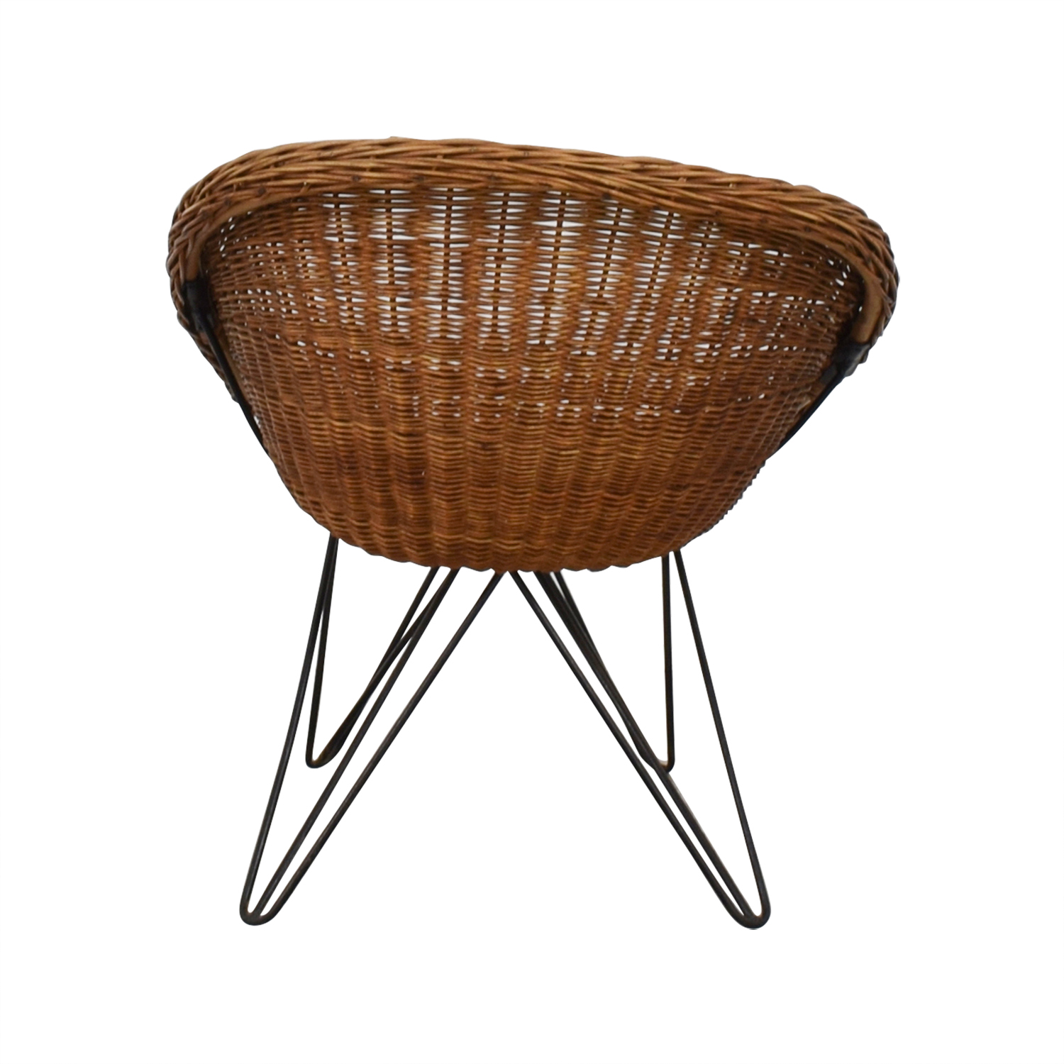 Wicker Chair with Metal Legs used
