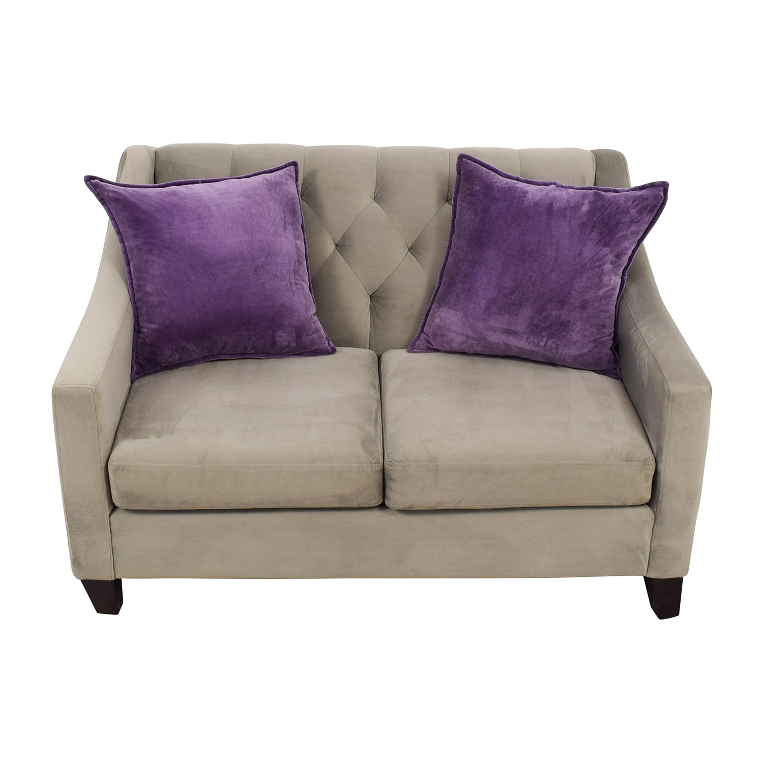 Better By Design Better By Design Grey Two-Cushion Loveseat discount