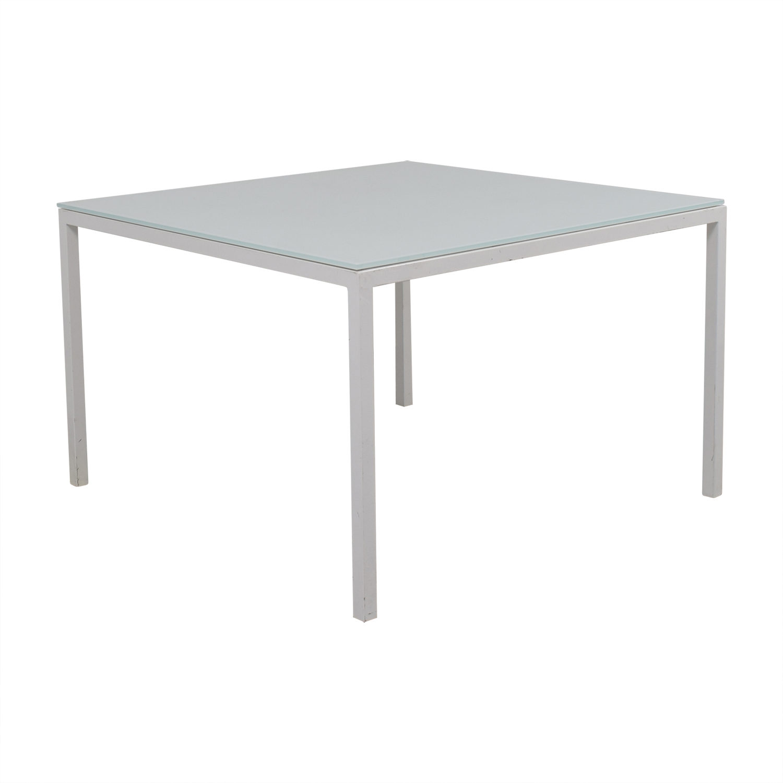 Room & Board Room & Board Custom Pratt White Glass Table nyc