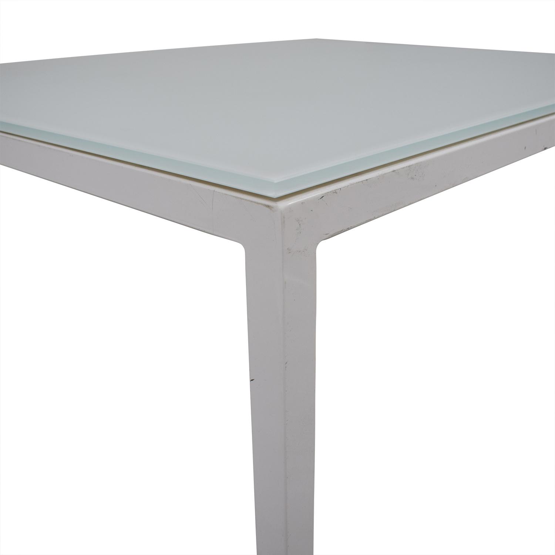 shop Room & Board Room & Board Custom Pratt White Glass Table online