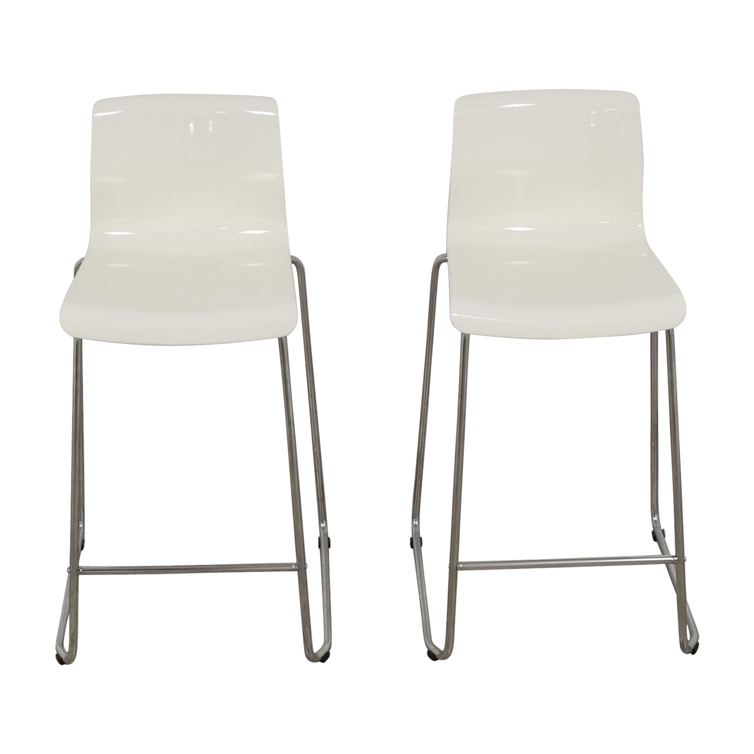 Fantastic 57 Off Ikea Ikea Glenn White Bar Stools Chairs Unemploymentrelief Wooden Chair Designs For Living Room Unemploymentrelieforg