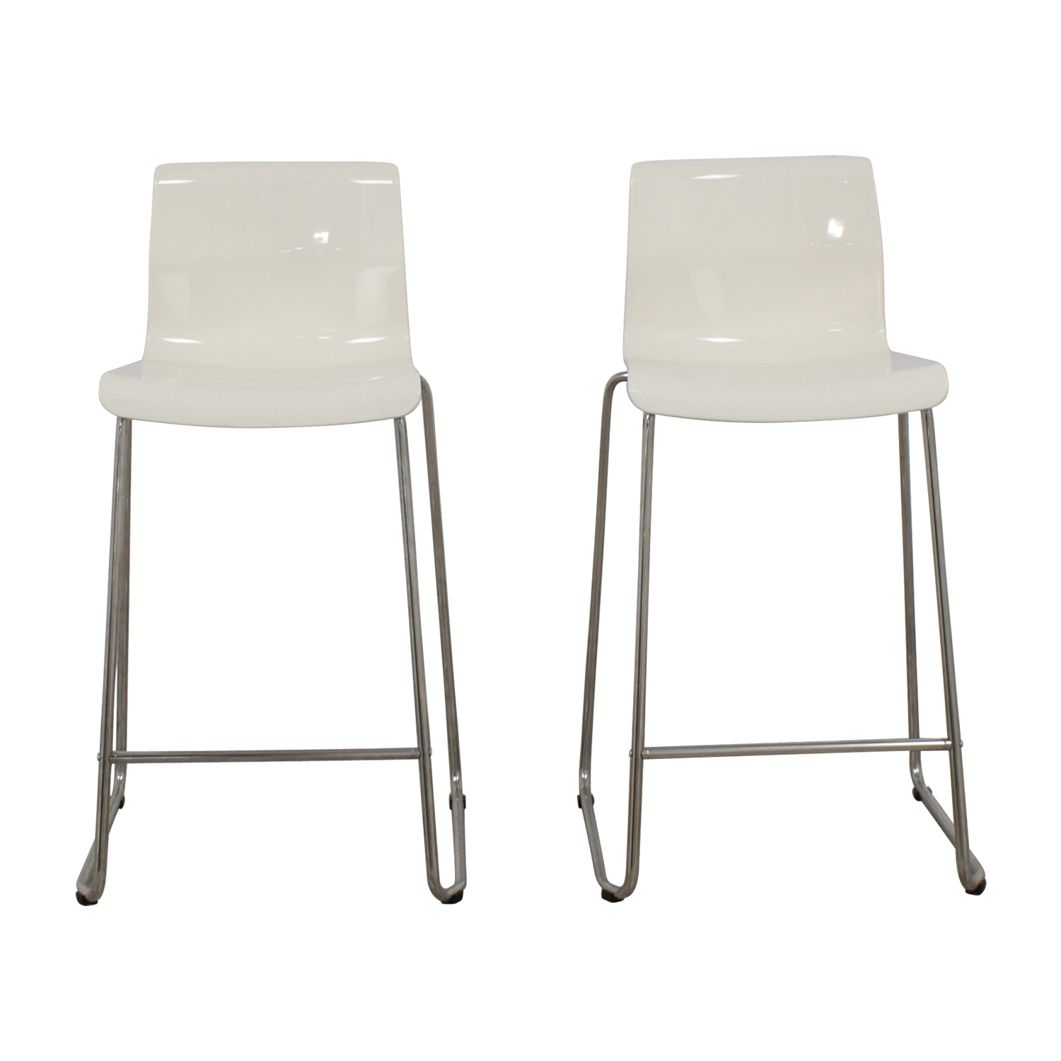 Fabulous 57 Off Ikea Ikea Glenn White Bar Stools Chairs Unemploymentrelief Wooden Chair Designs For Living Room Unemploymentrelieforg