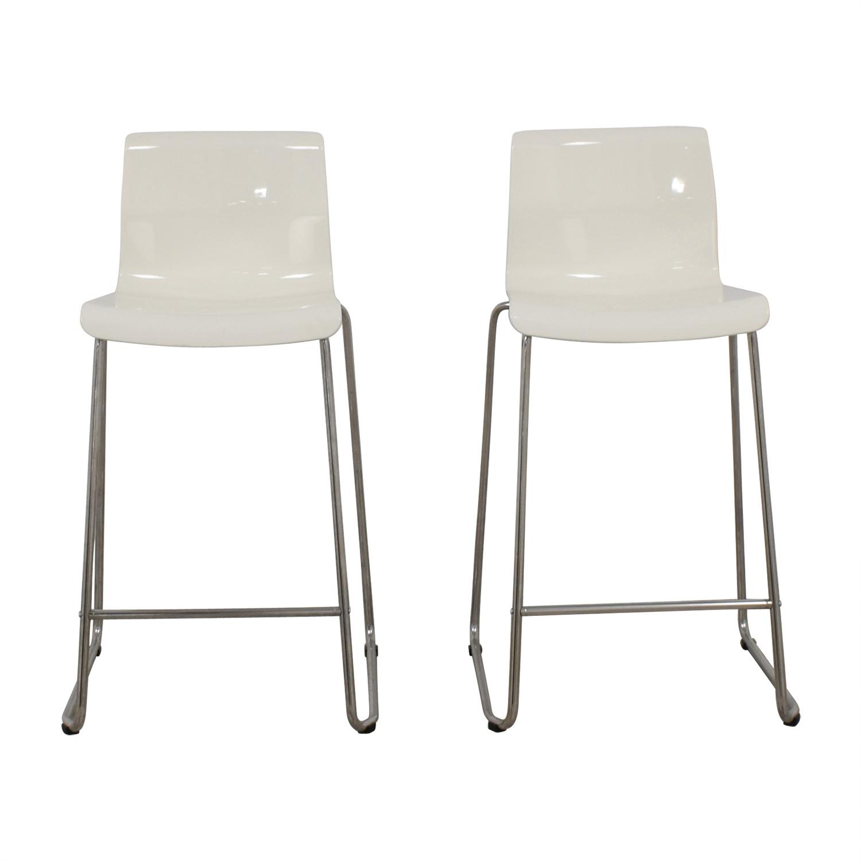 86 Off Ikea Ikea Bernhard Orange Bar Stools Chairs