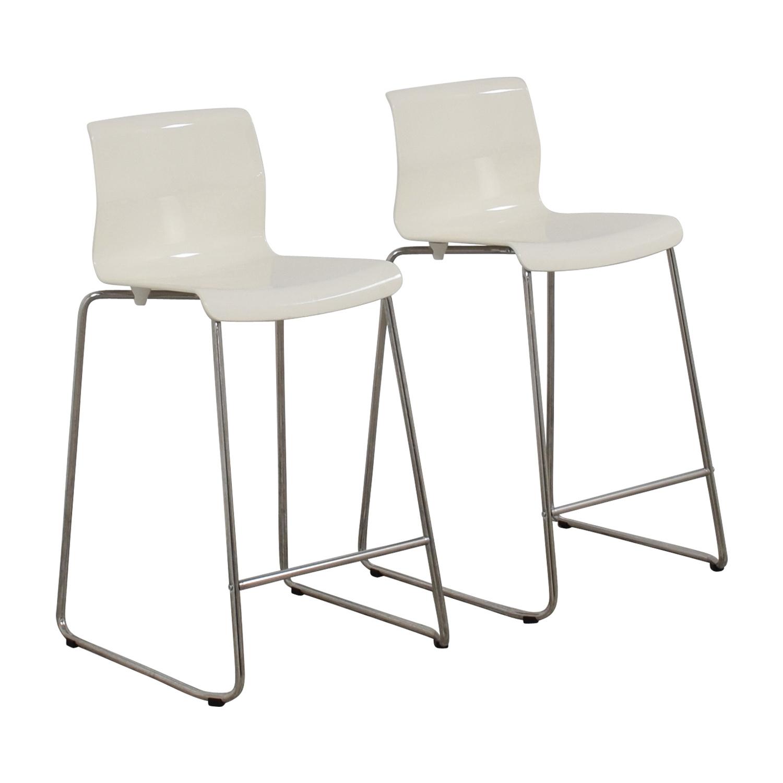 IKEA IKEA Glenn White Bar Stools used