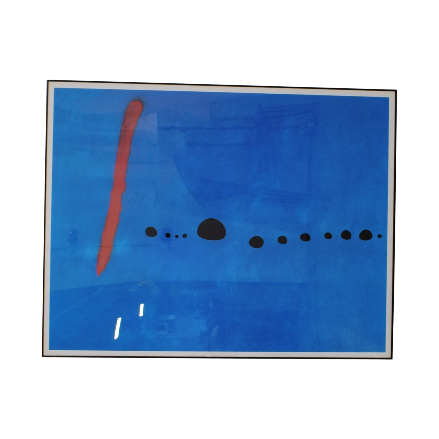 Black Framed MOMA Print Joan Miró's Blue II