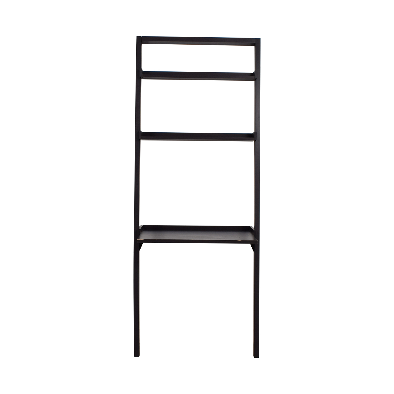 Bailey Bailey Black Leaning Desk with Shelves discount