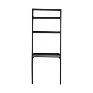 Bailey Black Leaning Desk with Shelves sale