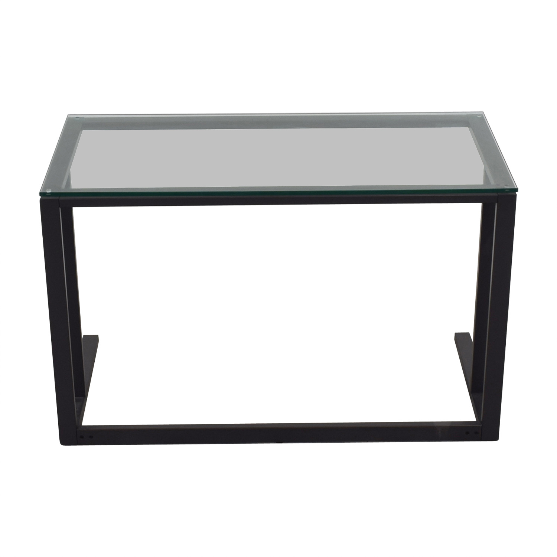Pilsen Graphite Glass and Metal Desk
