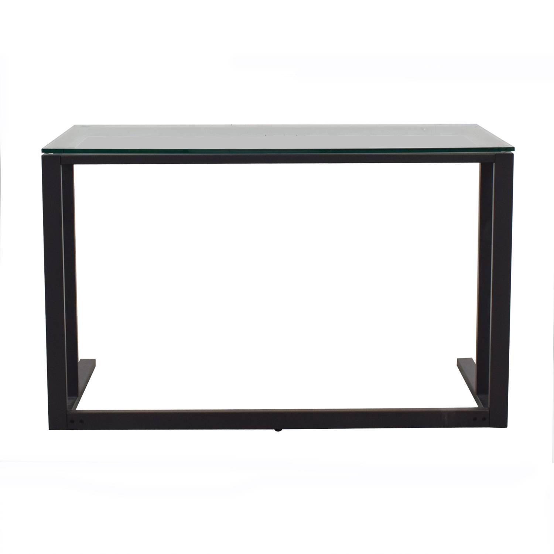 Pilsen Graphite Glass and Metal Desk nyc