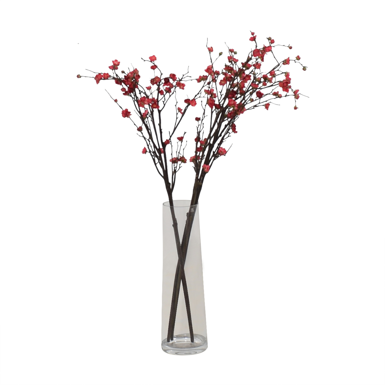 Crate & Barrel Crate & Barrel Glass Vase with Blossom Stems used