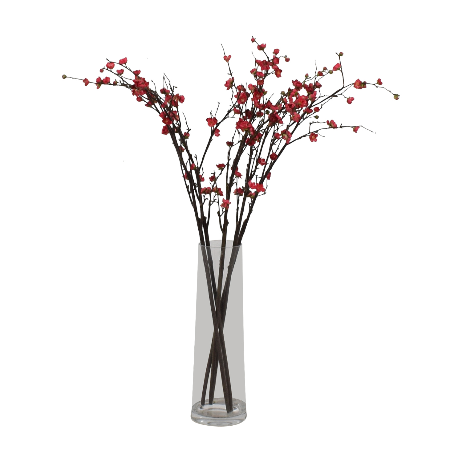 shop Crate & Barrel Glass Vase with Blossom Stems Crate & Barrel Sofas