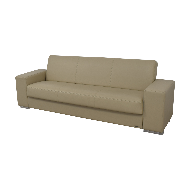 61% OFF - Istikbal Istikbal Cream Convertible Sofa / Sofas
