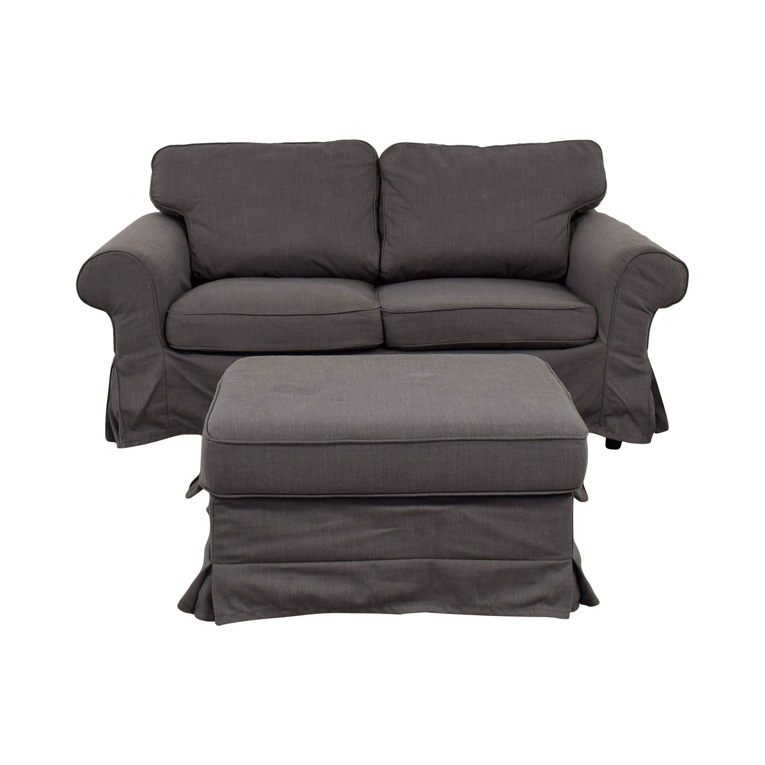 IKEA IKEA Grey Loveseat and Ottoman Loveseats