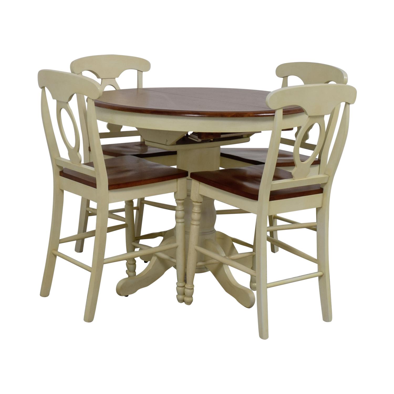 78% OFF   Raymour U0026 Flanigan Raymour U0026 Flanigan Kenton II Extendable Dining  Set / Tables