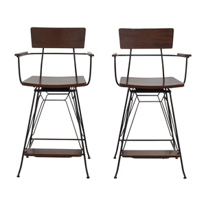 Crate & Barrel Crate & Barrel Elston Swivel Bar Stools used