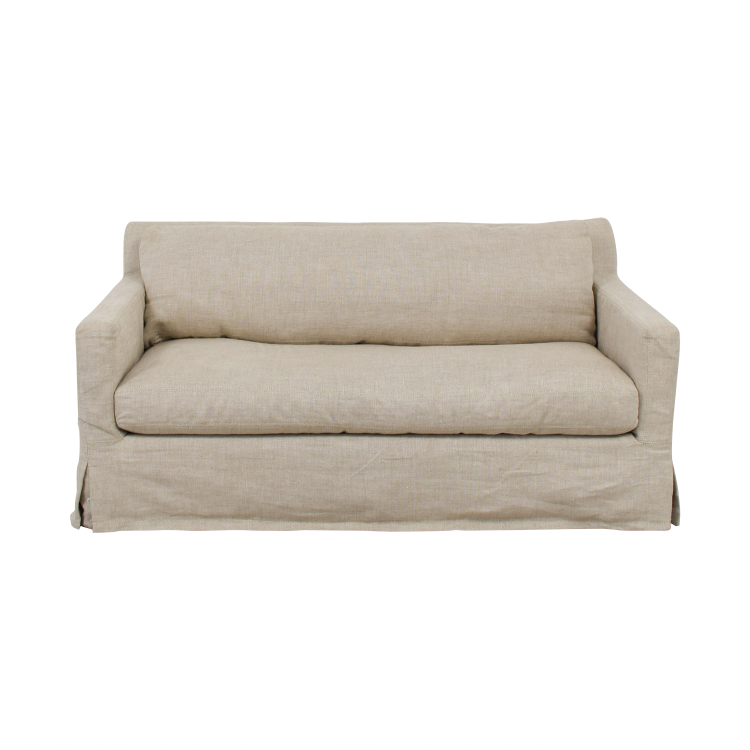 Restoration Hardware Restoration Hardware Slipcovered Belgian Track Arm Sofa on sale