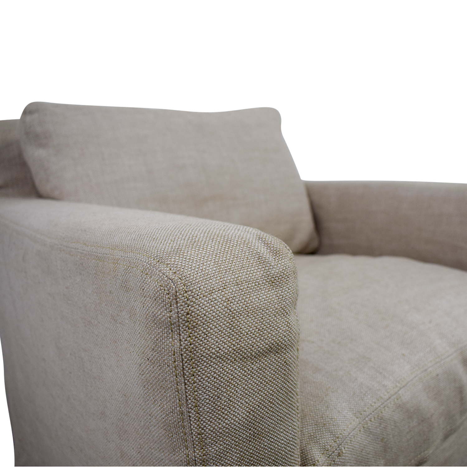 Restoration Hardware Restoration Hardware Beige Slipcovered Belgian Track Arm Chair and Ottoman second hand