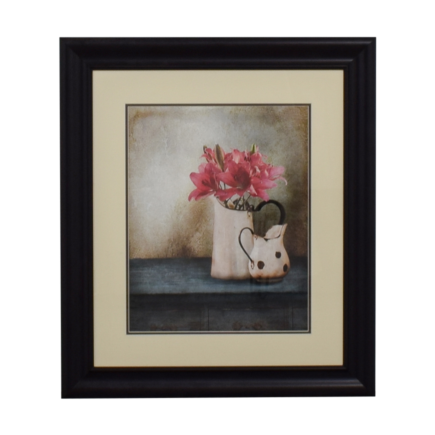 Pink Flower Pot Print nj