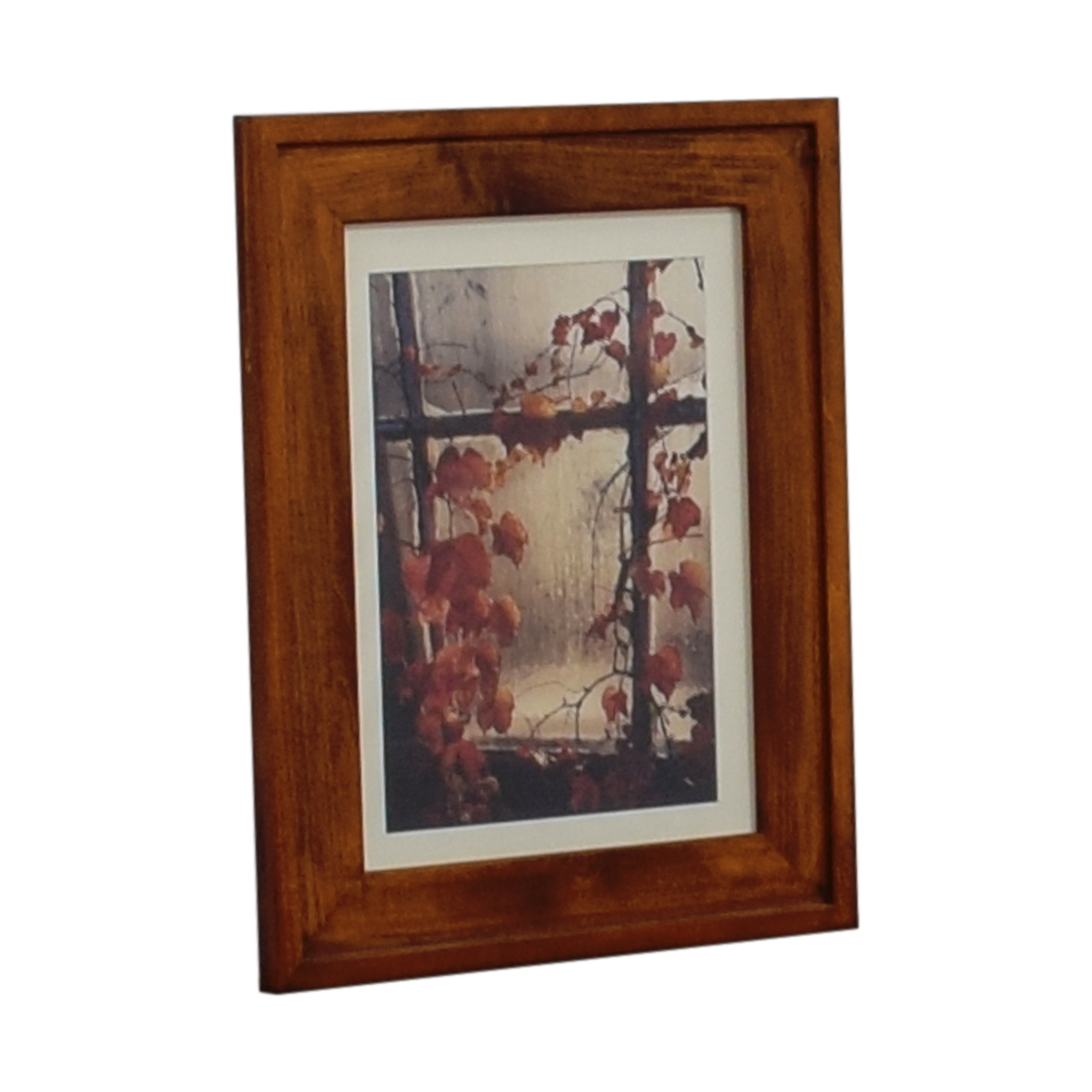 Fall Leaves Print in Wood Frame