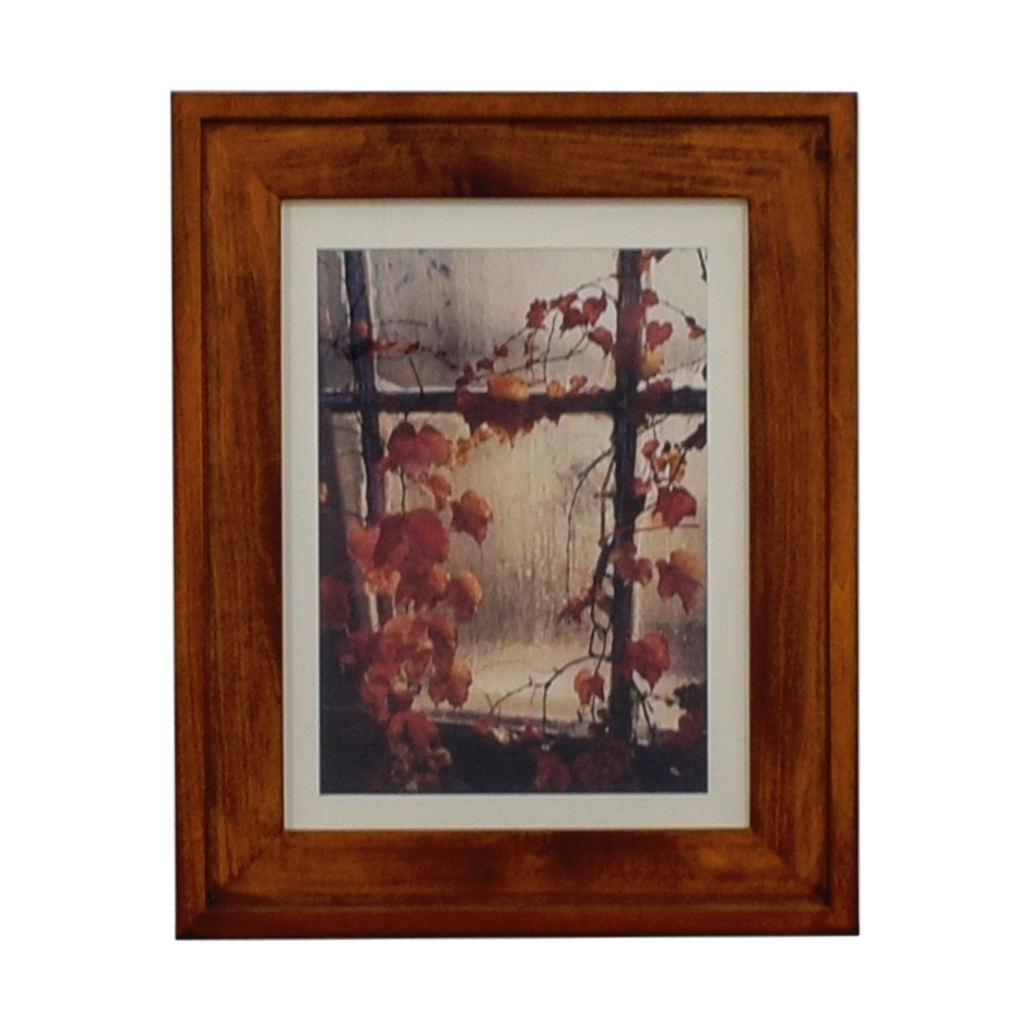 shop  Fall Leaves Print in Wood Frame online