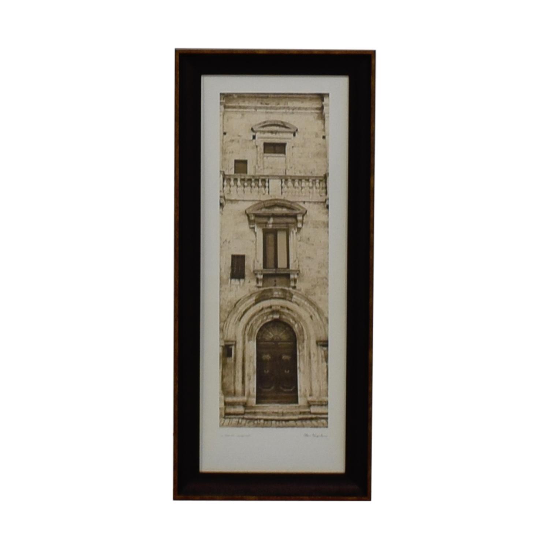 Alan Blaustein La Porta Villa Montepulciano Signed Framed Photograph / Wall Art