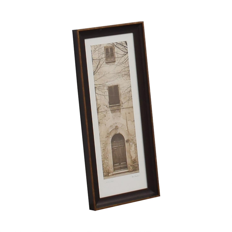 Alan Blaustein La Porta Villa Volterra Signed Framed Photograph on sale