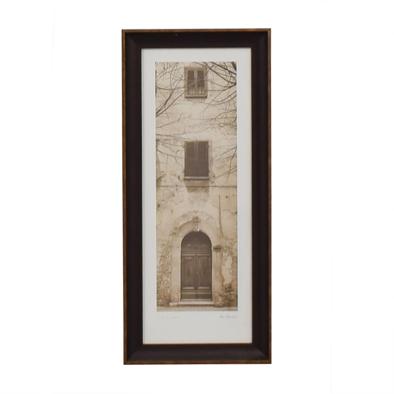 Alan Blaustein La Porta Villa Volterra Signed Framed Photograph dimensions