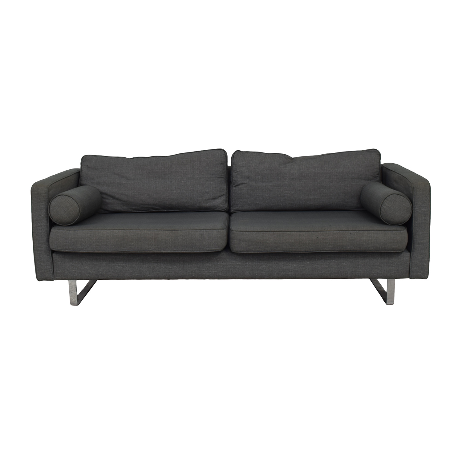 Conrans Conrans Grey Two-Cushion Sofa Sofas