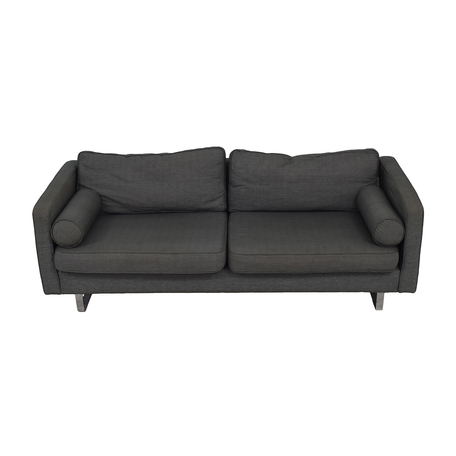 Conrans Conrans Grey Two-Cushion Sofa used