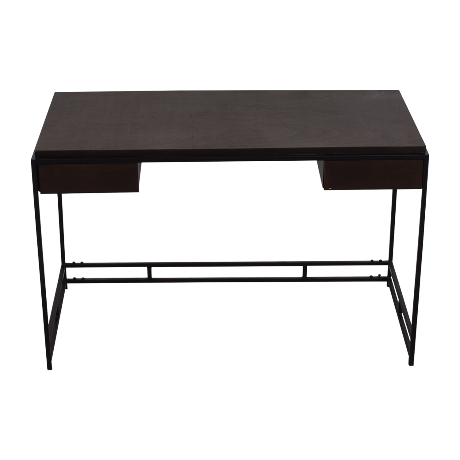Zuo Modern Furniture Espresso & Metal Two-Drawer Studio Desk sale