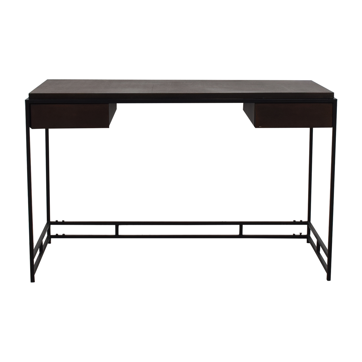 Zuo Modern Furniture Espresso Metal Two Drawer Studio Desk Home Office Desks