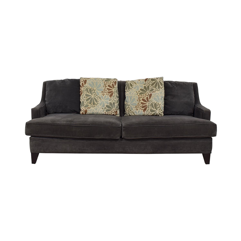 76 off jordan s furniture jordan s furniture grey microfiber two rh kaiyo com jordan's furniture sofa chaise jordan's furniture sofa and loveseat
