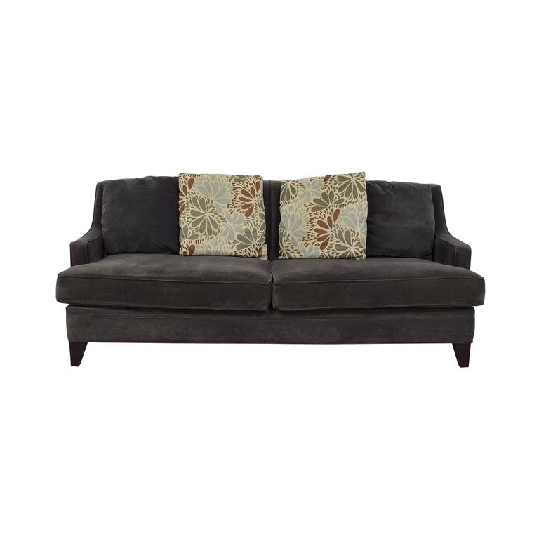 shop Jordan's Furniture Jordan's Furniture Grey Microfiber Two-Cushion Sofa online