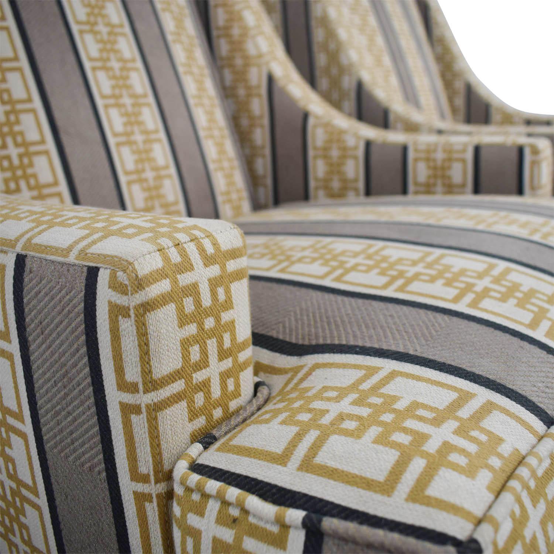 Ethan Allen Ethan Allen Emerson Multi-Colored Geometric Pattern Accent Chairs nj