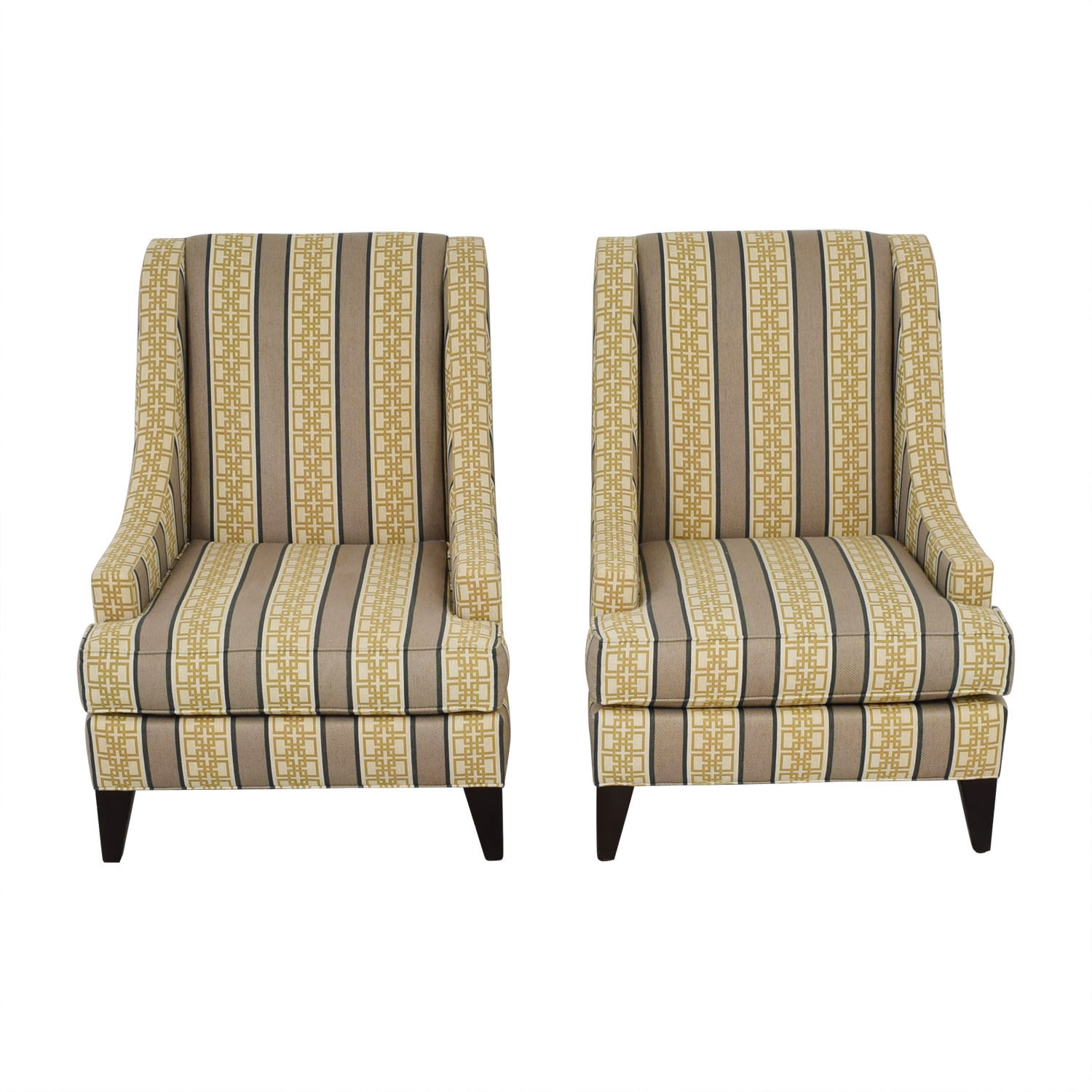 buy Ethan Allen Emerson Multi-Colored Geometric Pattern Accent Chairs Ethan Allen Chairs