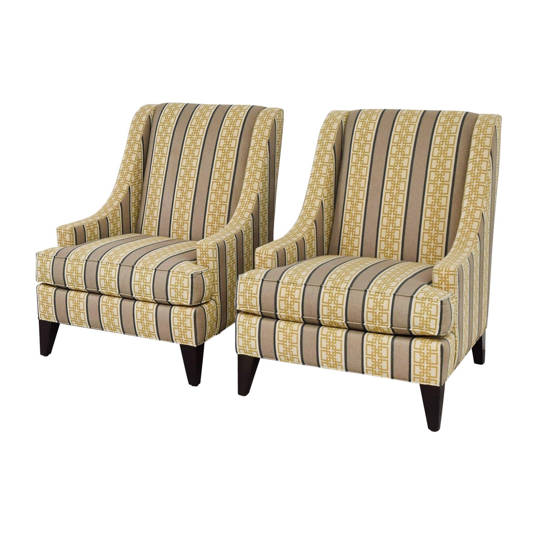 shop Ethan Allen Emerson Multi-Colored Geometric Pattern Accent Chairs Ethan Allen Accent Chairs