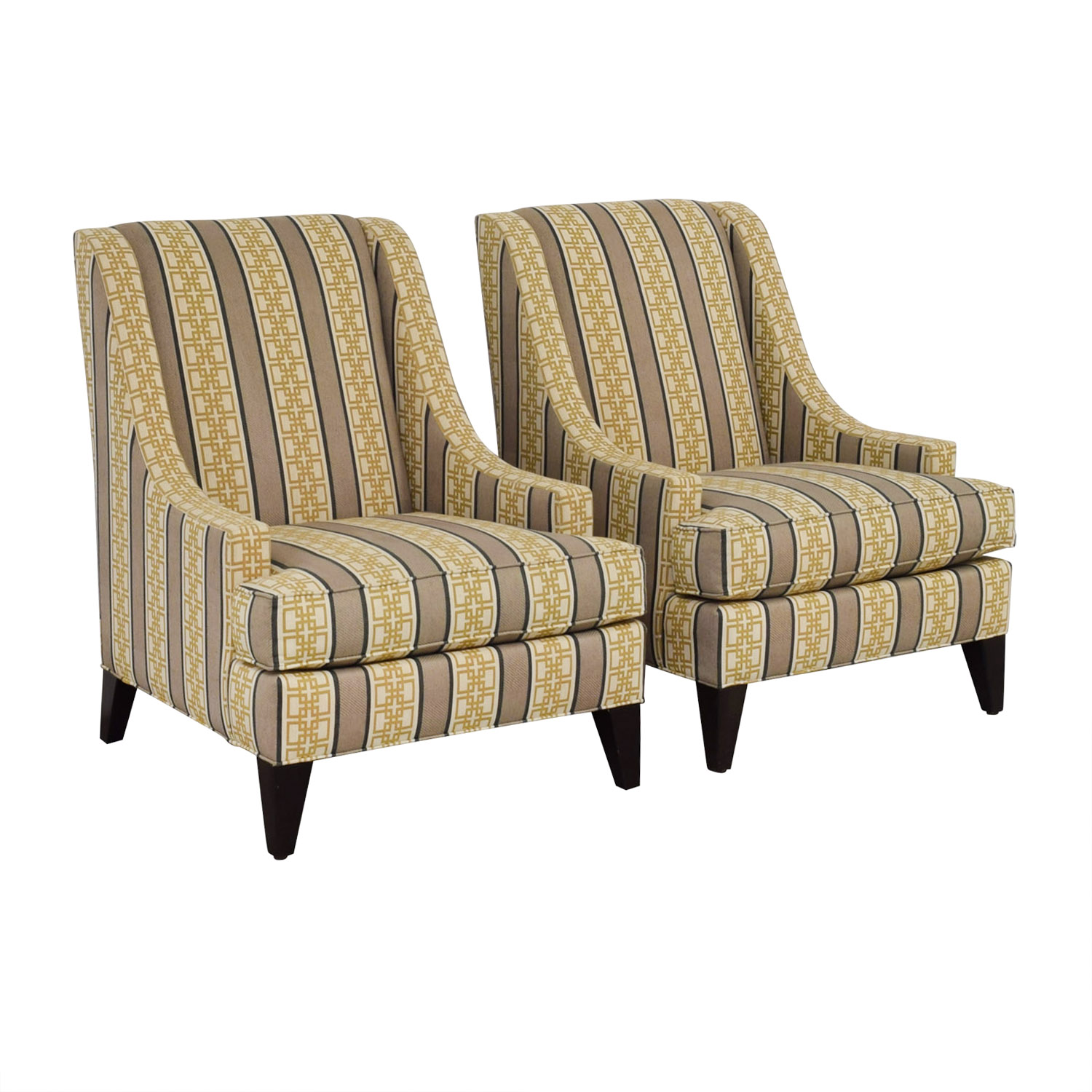 Ethan Allen Ethan Allen Emerson Multi-Colored Geometric Pattern Accent Chairs coupon