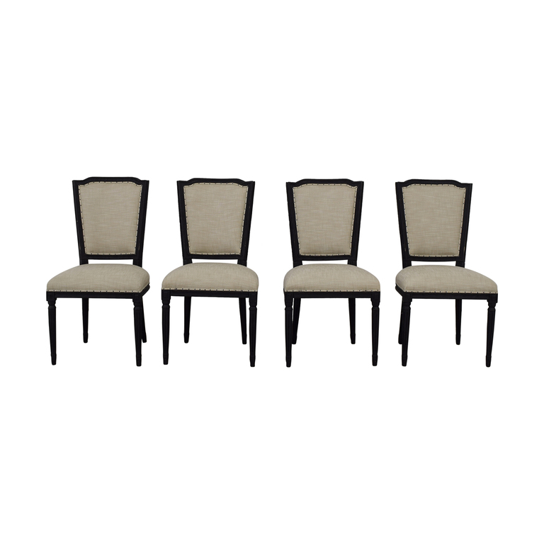 Restoration Hardware Restoration Hardware Sunbrella Nailhead Upholstered French Dining Chair nyc