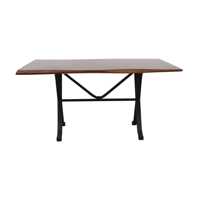 Arhaus Arhaus Wave Wood Dining Table second hand
