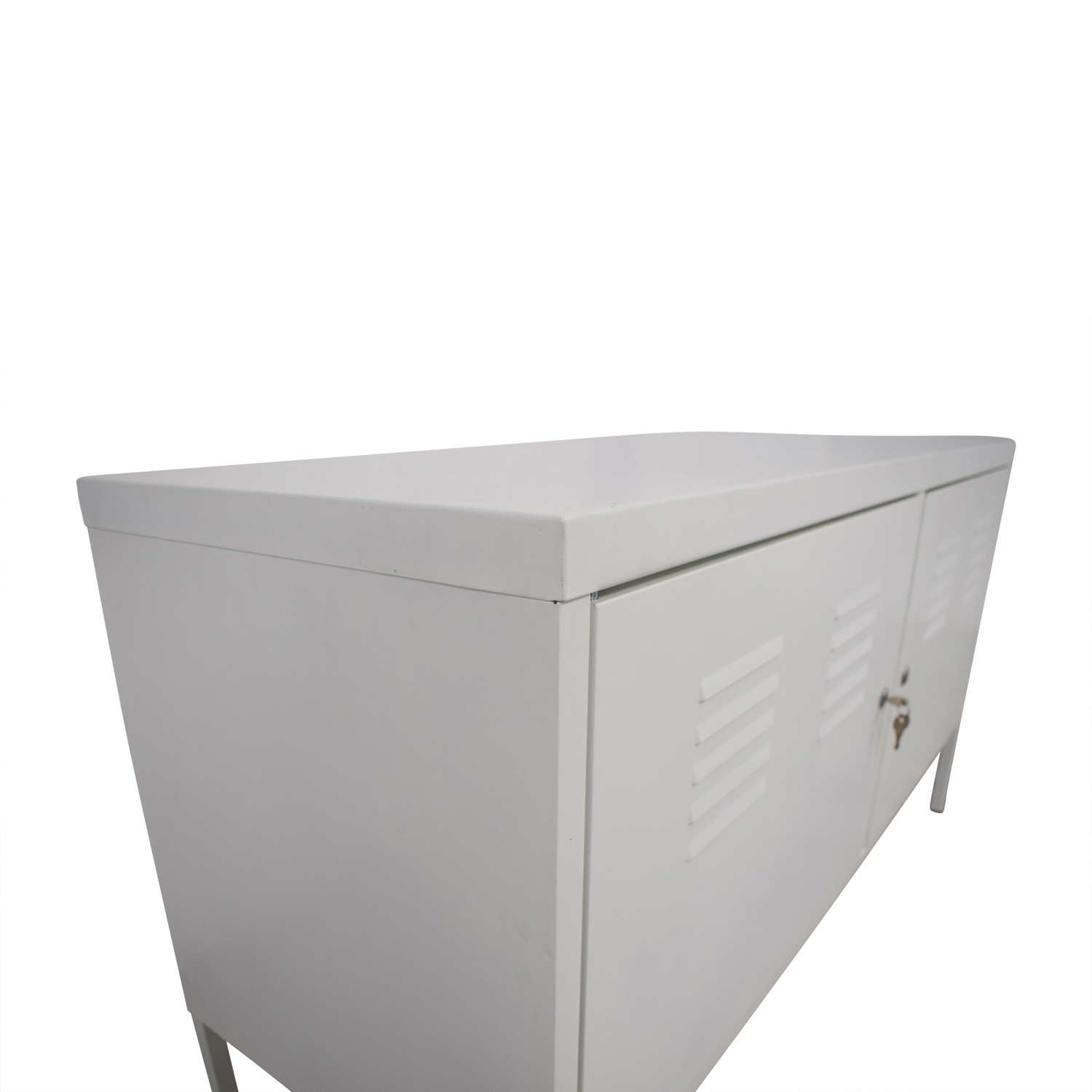 IKEA IKEA White Metal Locker Cabinet White